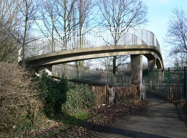 Footbridge across the A5