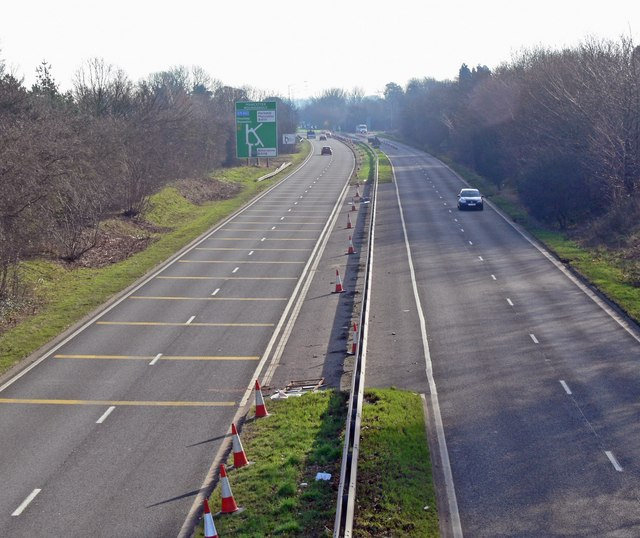 The A5 in Atherstone