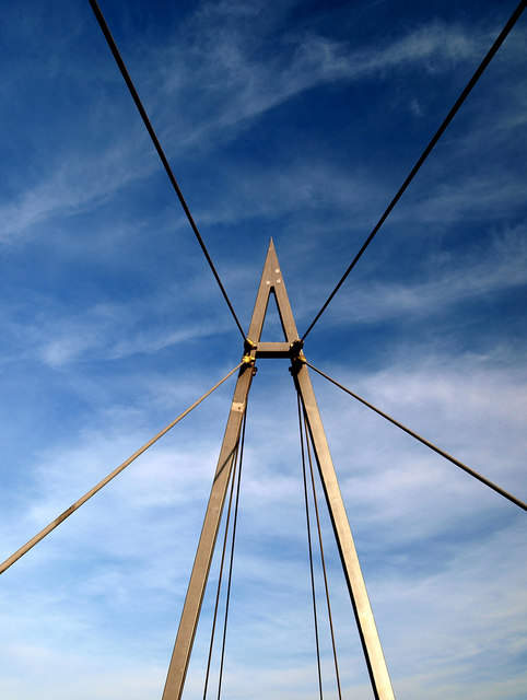 Cable stayed bridge mast