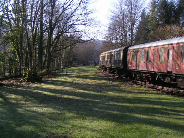 Empty carriages at the picnic site