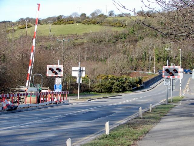 Vale of Rheidol Railway level crossing at Glanyrafon