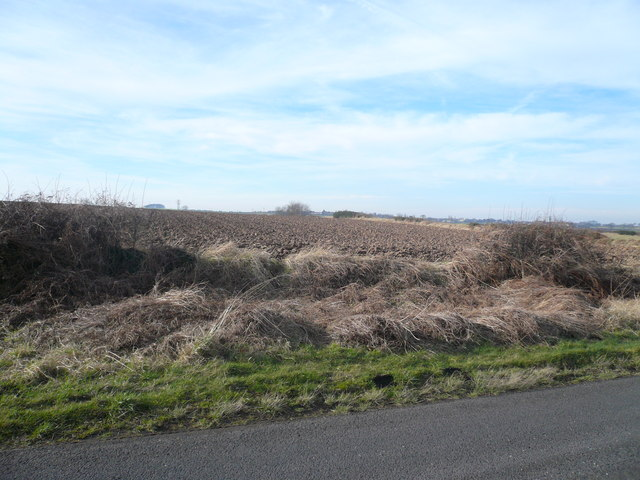 Fox Hill  - View across Ploughed Farmland