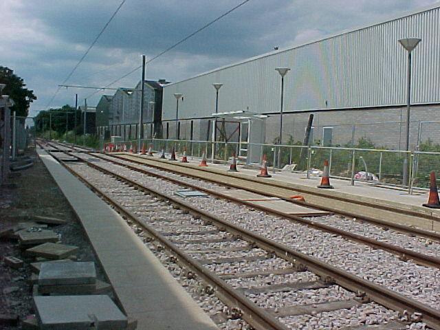Beddington Lane Tram Stop - under construction