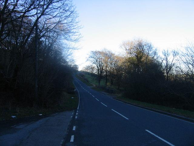 A485 rhwng Lledrod a Bronant / A485 between Lledrod and Bronant