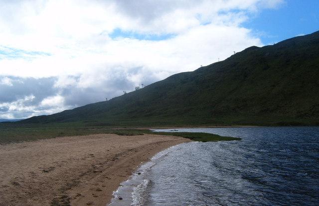Beach on Lochan Sron Smeur