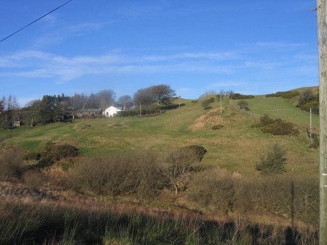 Carreg-wen ger Bronnant / Carreg-wen near Bronnant