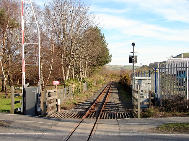 Vale of Rheidol Railway track at Glanyrafon