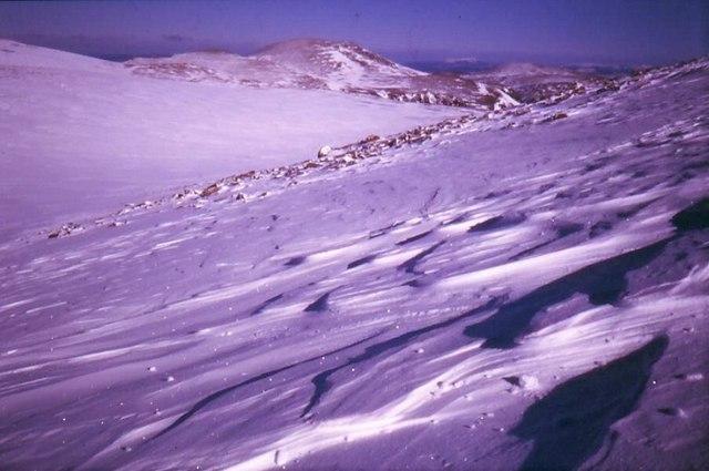 Snow Slopes on Ben MacDhui