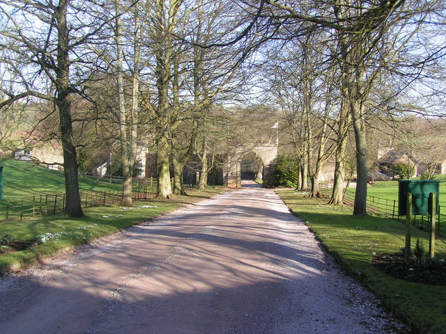 Clearwell Castle  driveway