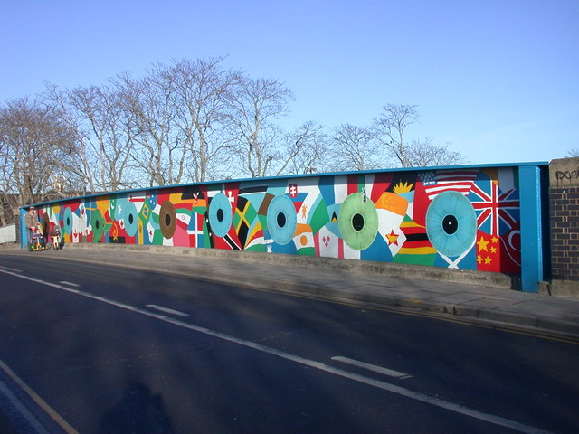 Mill Road Bridge mural