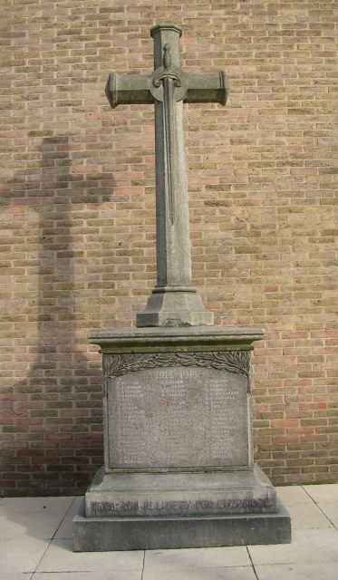 War Memorial at St Cyprian & St James Church - Coldcotes Avenue