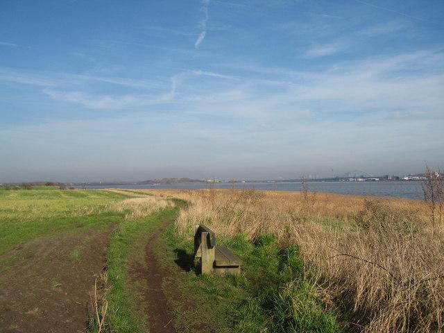 The Mersey Way looking towards Widnes