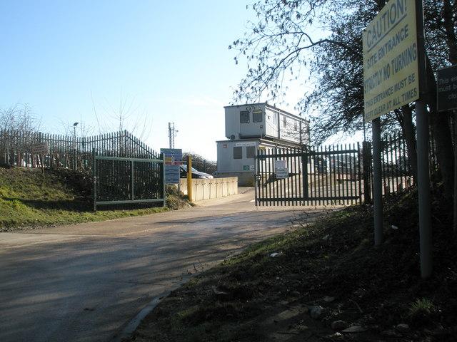 Entrance to Dredging Depot