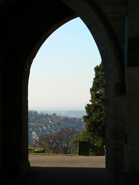 Stroud cemetery chapel, porte-cochere, Bisley Road, Stroud