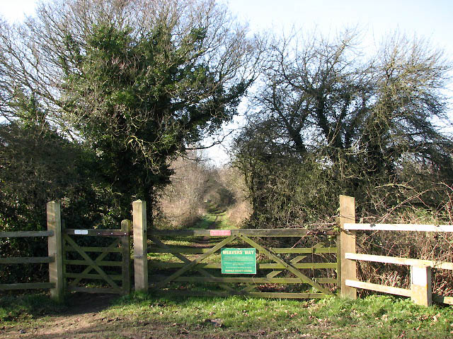 A section of the Weavers' Way