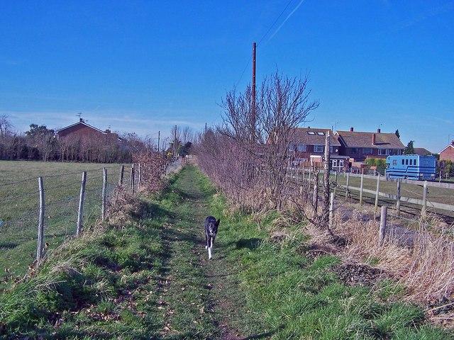 Footpath to Chaffe's Lane, Upchurch