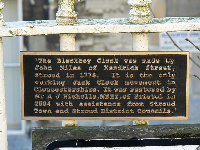 Sign, Blackboy's School building, Stroud