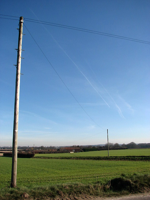 Fields beside Banningham Road