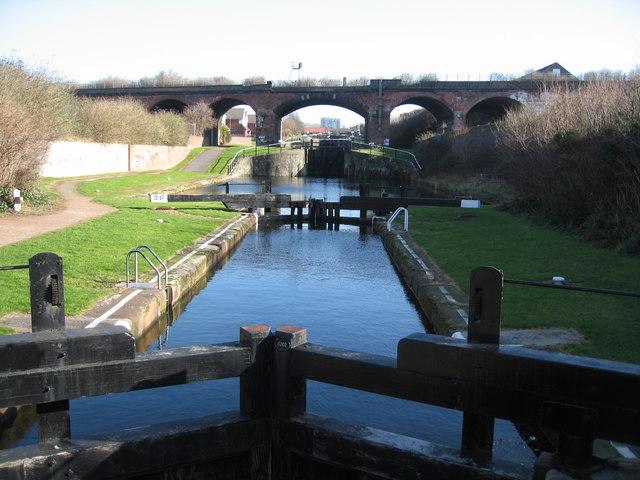 Last Lock on Leeds-Liverpool Canal