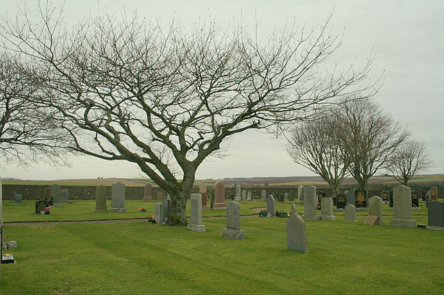 The cemetery near Mauldmoss
