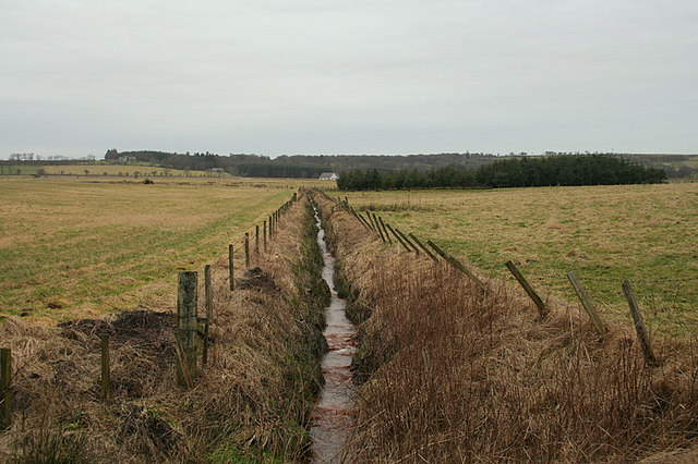 Drainage ditch by Lower Auchnamoon