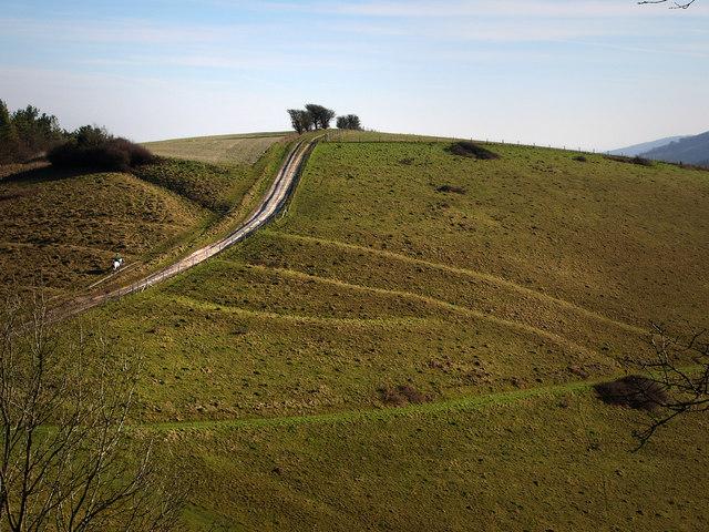 Cross dykes on Pen Hill