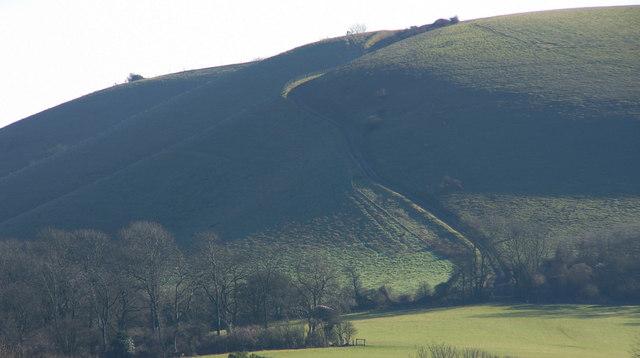 Track on Treyford Hill