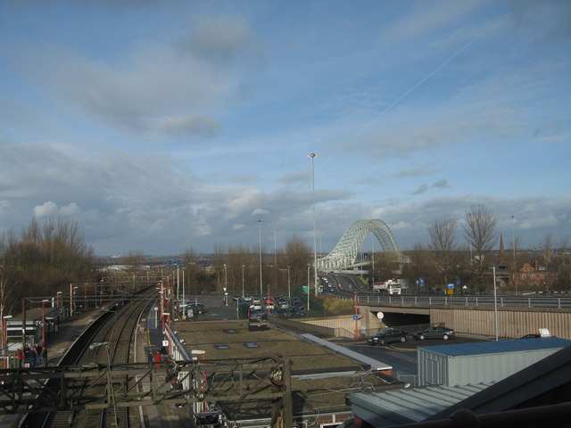 Railway Track and Bridge from Runcorn Station