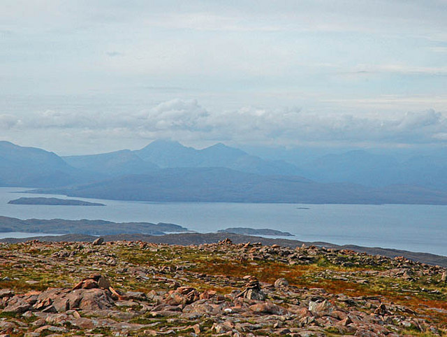 Skye from the summit of the Bealach na Ba