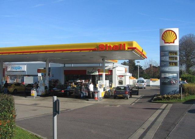 Shell garage - Pack Lane