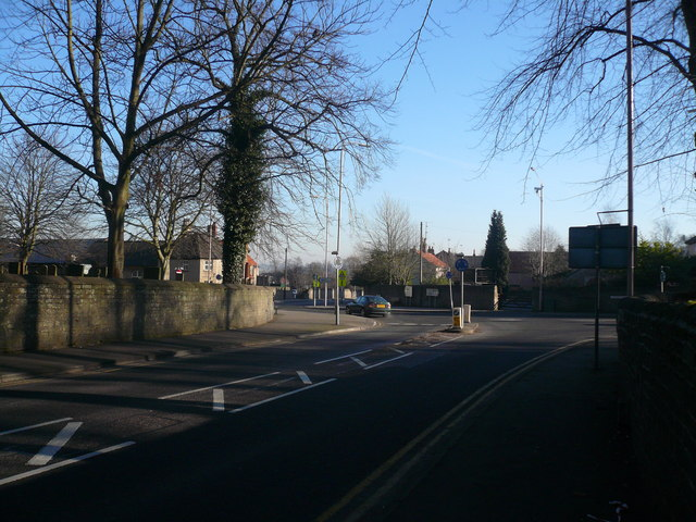 Mansfield Woodhouse - Approaching the mini-roundabout at the end of Priory Road