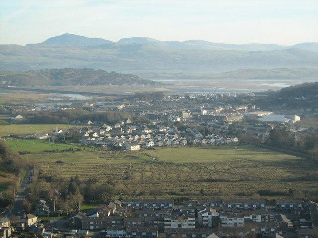 Pensyflog Estate, seen from Craig-y-Castell
