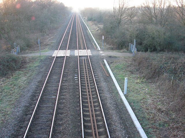View Westwards from Footbridge at Whisby Nature Park