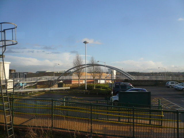 Mansfield - Footbridge View from Station