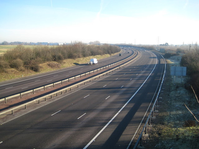 M25 Motorway near Broad Colney