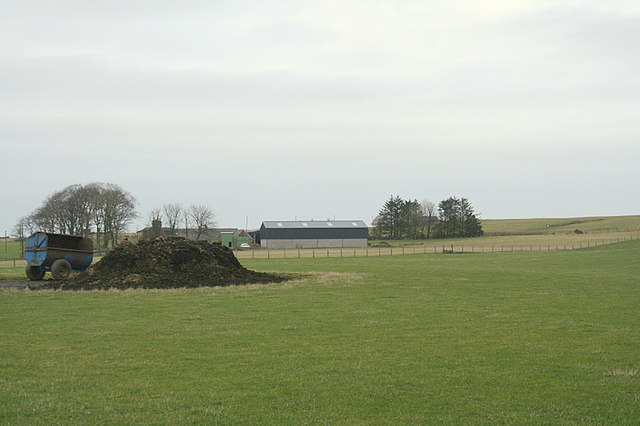 Christianhall Farm to the north