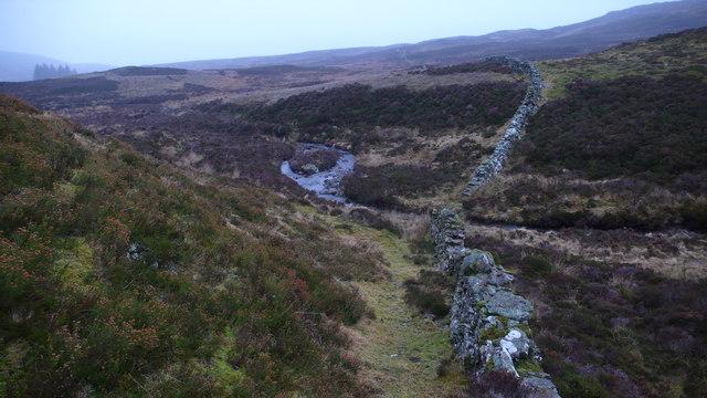 Dyke on hillside