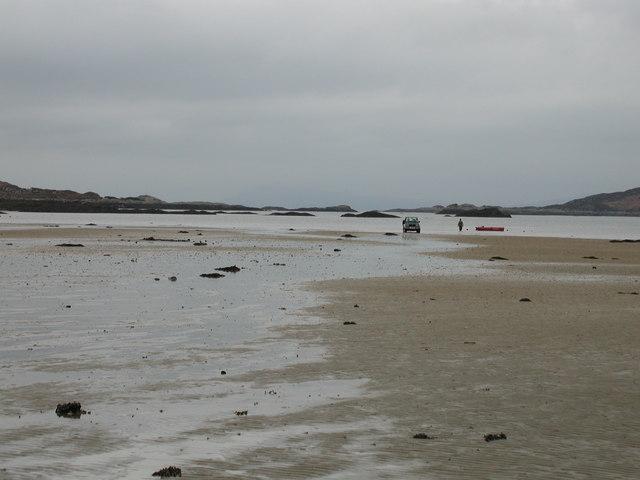 Low tide in the South Channel Loch Moidart