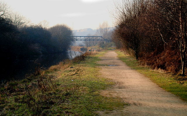 Trans Pennine Trail following the Don and South Yorkshire Navigation