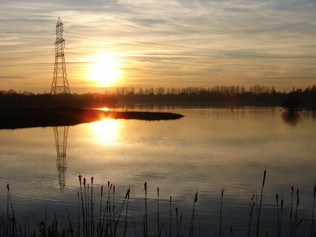 Sunset at Whisby Nature Park