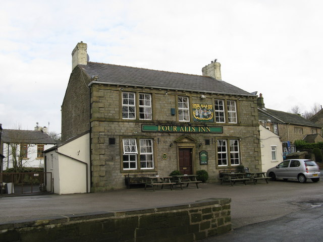 The 'Four Alls Inn', Higham, Lancashire