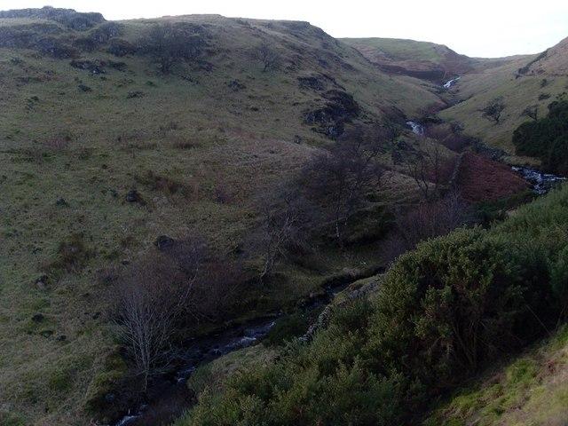 The zig-zagging Loch Humphrey Burn