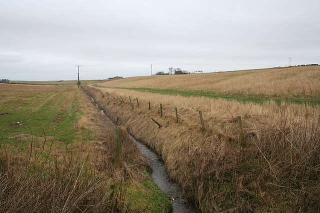 Drainage of Balthangie Mains looking northwards