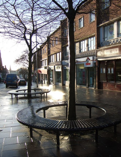 Tree seats, South Street, Exeter