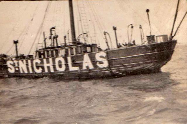Historic image of St Nicholas Lightship, Lowestoft, Suffolk taken 1923