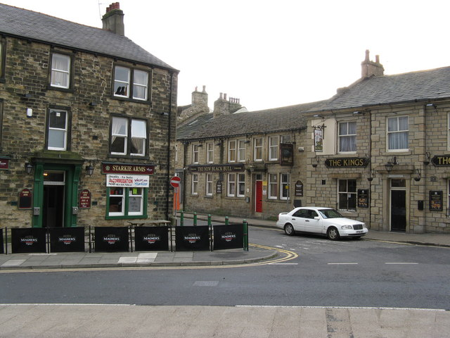 Three pubs in Padiham, Lancashire