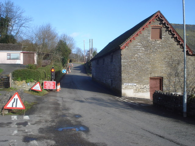 Roadworks at New Radnor