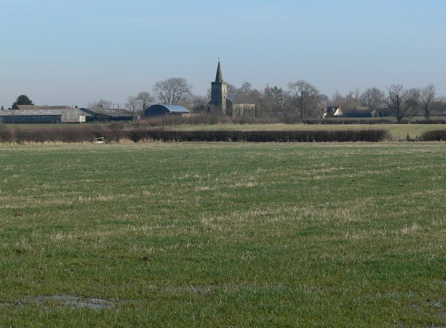 Across the fields to Ratcliffe Culey