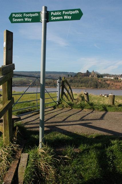 Severn Way signpost, Arlingham