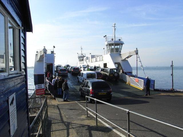 Loading the Sandbanks Ferry
